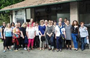 la delegazione al Centro Tiro a Segno